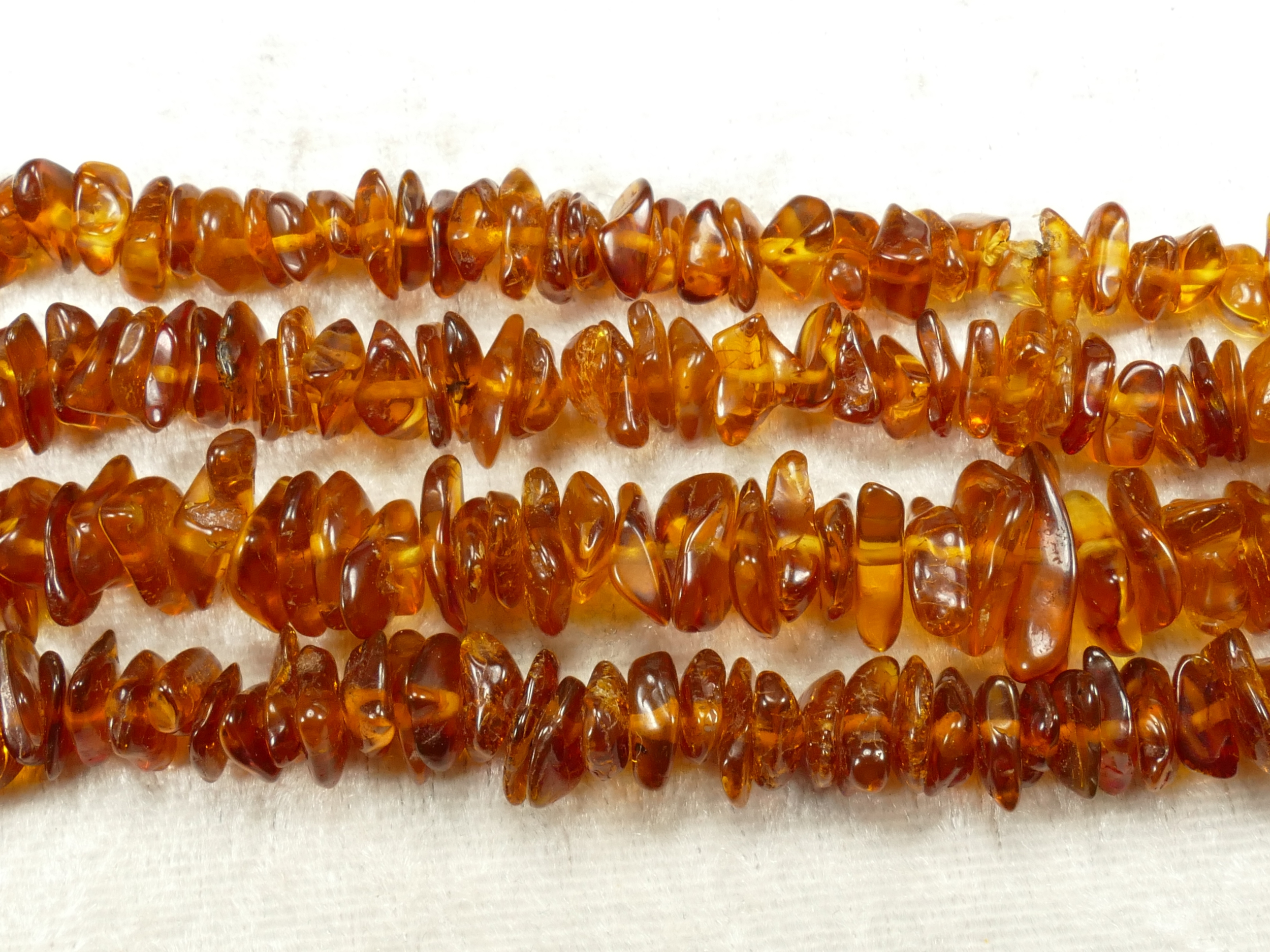 7/11mm Perles d\'Ambre naturel natif de la Mer Baltique roulé x40cm (15.7inch) cognac (#AC633B)