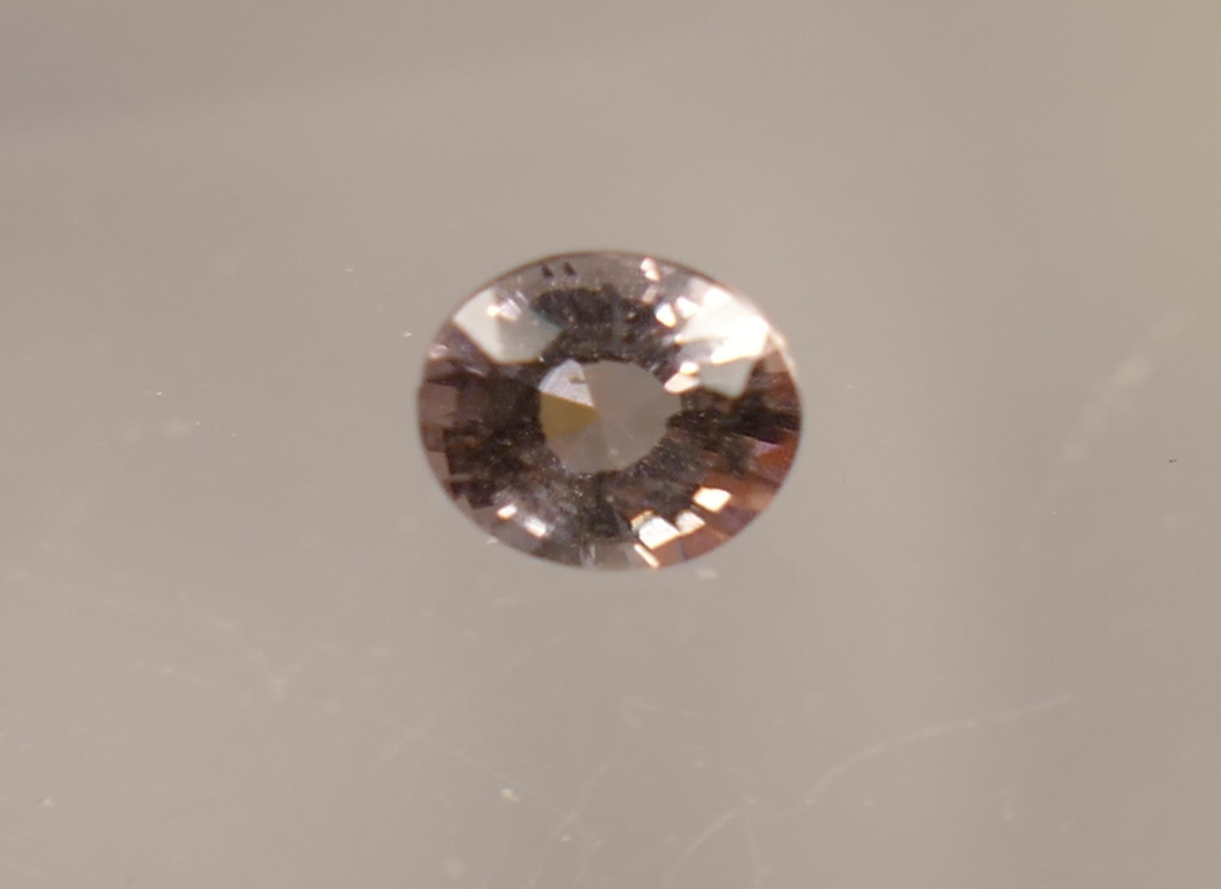 4.8x4.2mm Tourmaline rose pâle naturelle facettée ovale Brésil 0.41ct VVS (#PB270)