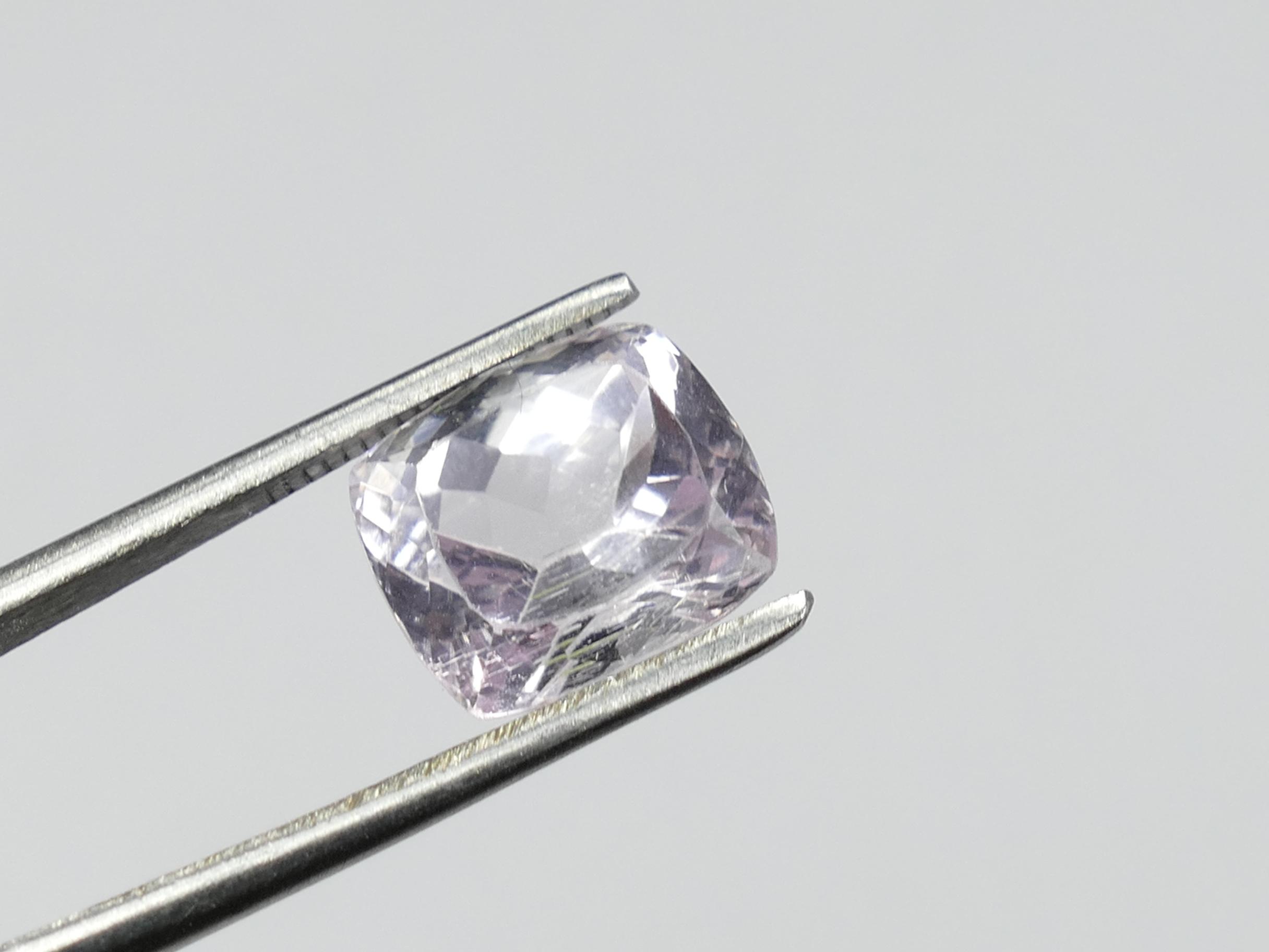 11.5x10.1mm Jolie Kunzite rosé violet naturelle facettée coussin d\'Afghanistan 7.33ct (#PM191)