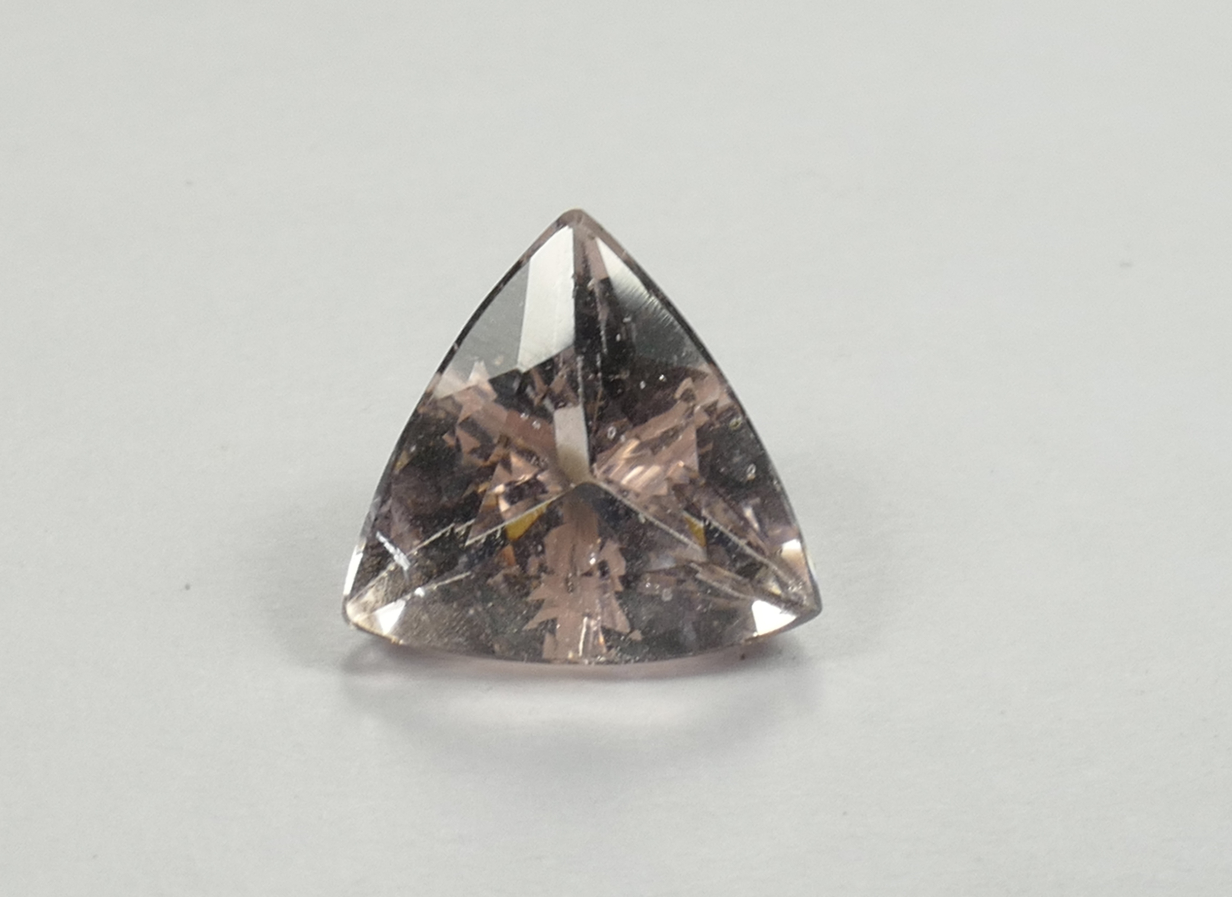 8mm Morganite Béryl rose naturelle triangle trillion 1.65ct Brésil (#PB614)