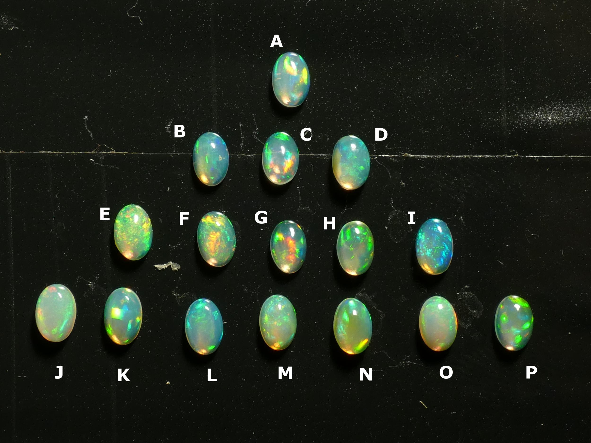6x4mm Très jolie Opale naturelle d\'Ethiopie cabochon ovale, vente à l\'unité (#PM344)