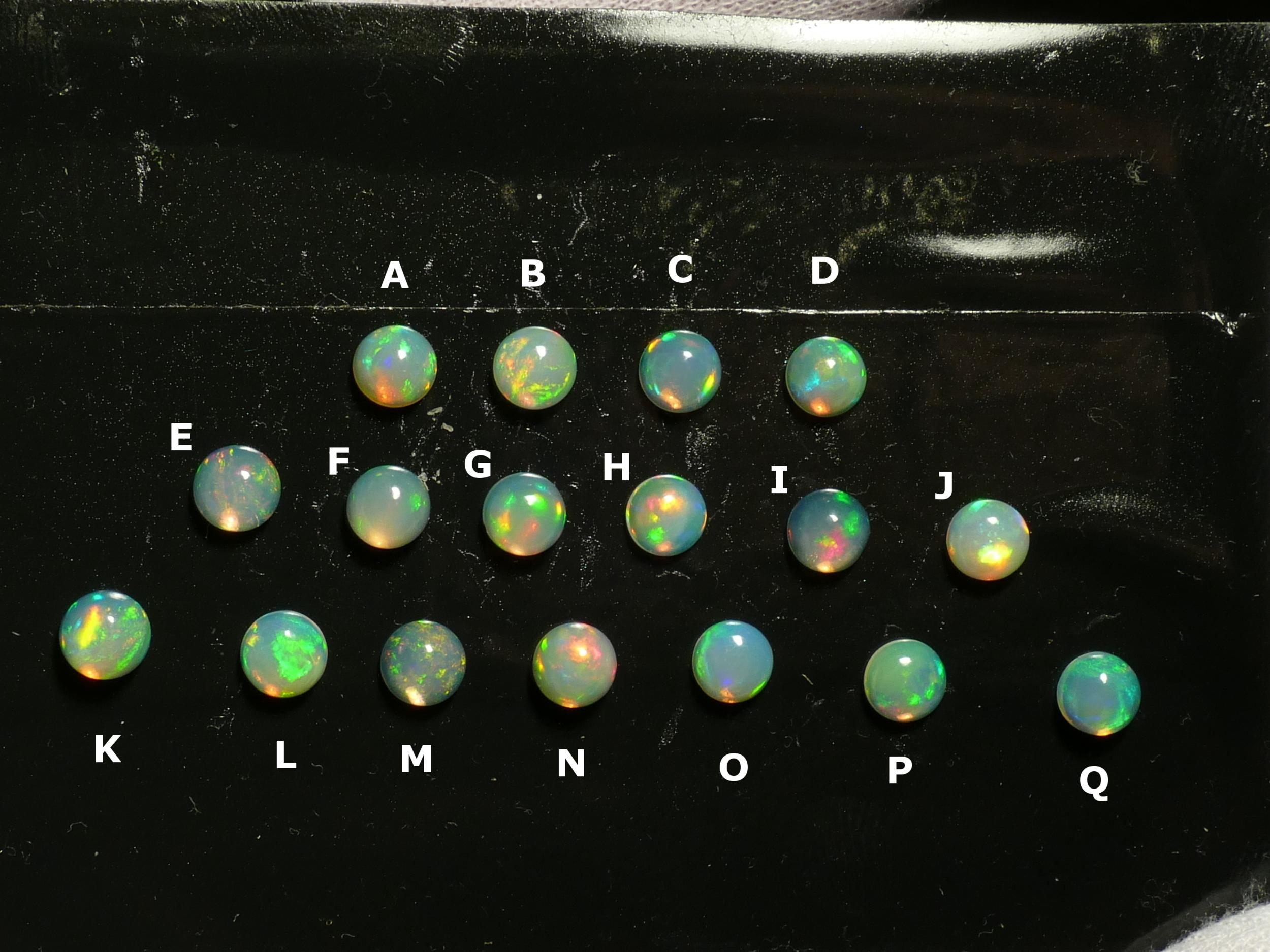 6mm Très jolie Opale naturelle d\'Ethiopie cabochon rond, vente à l\'unité (#PM350)