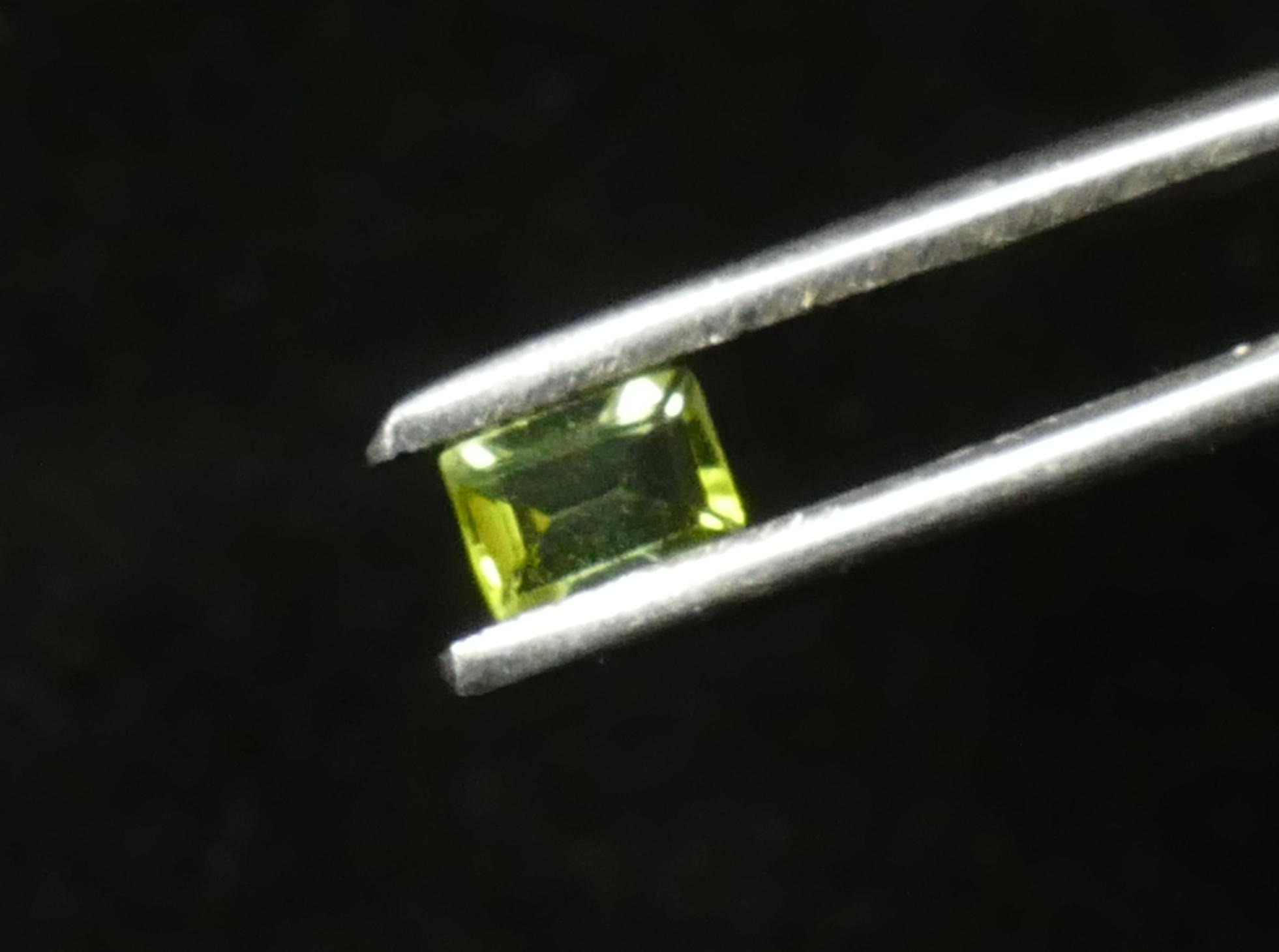 4.6x3.2mm VS Tourmaline naturelle Verdelite verte facetté baguette Brésil 0.29ct (#PB684)