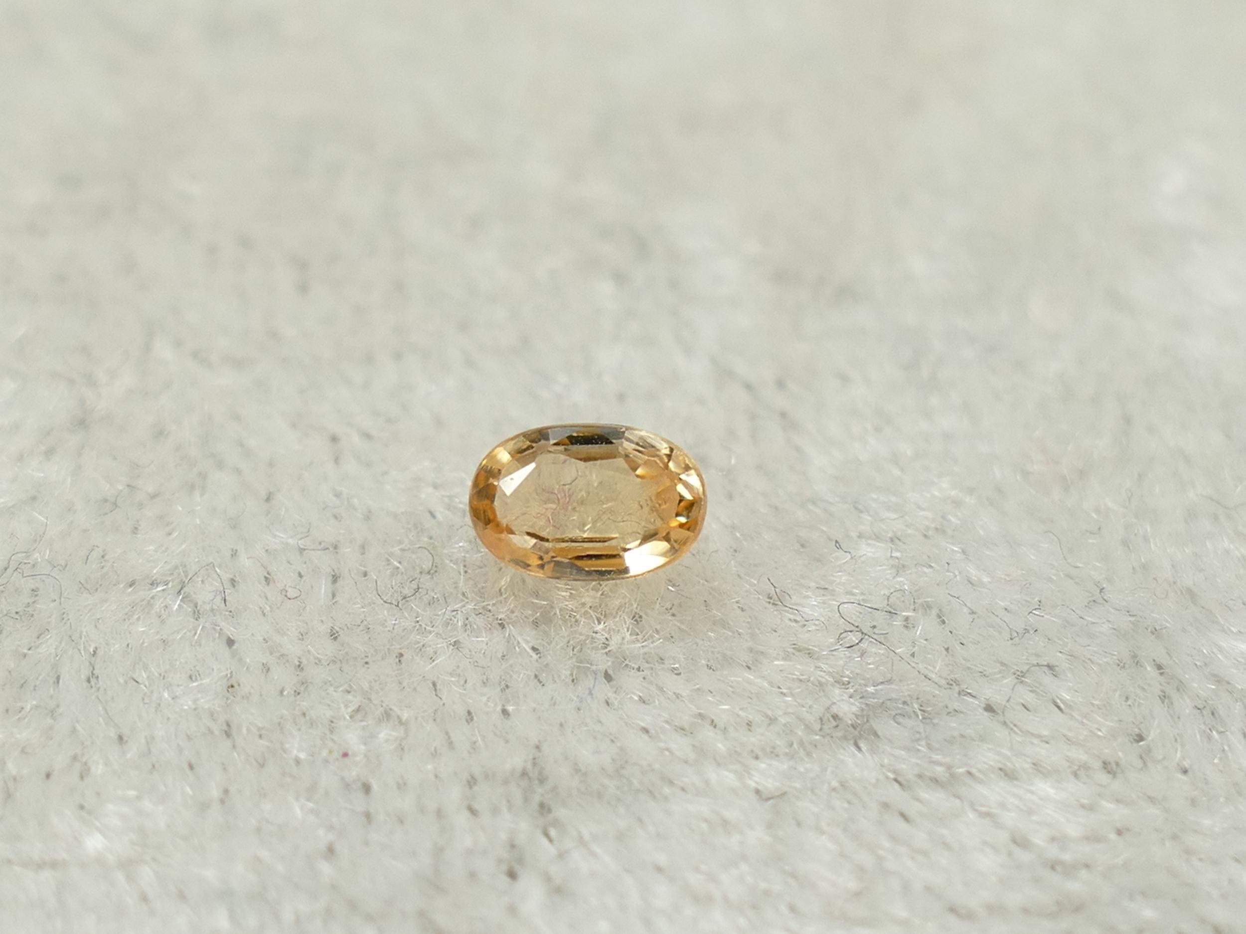 5x3.3mm Joli Saphir orange naturel en facettée ovale Ceylan Sri Lanka 0.41ct (#PK518)