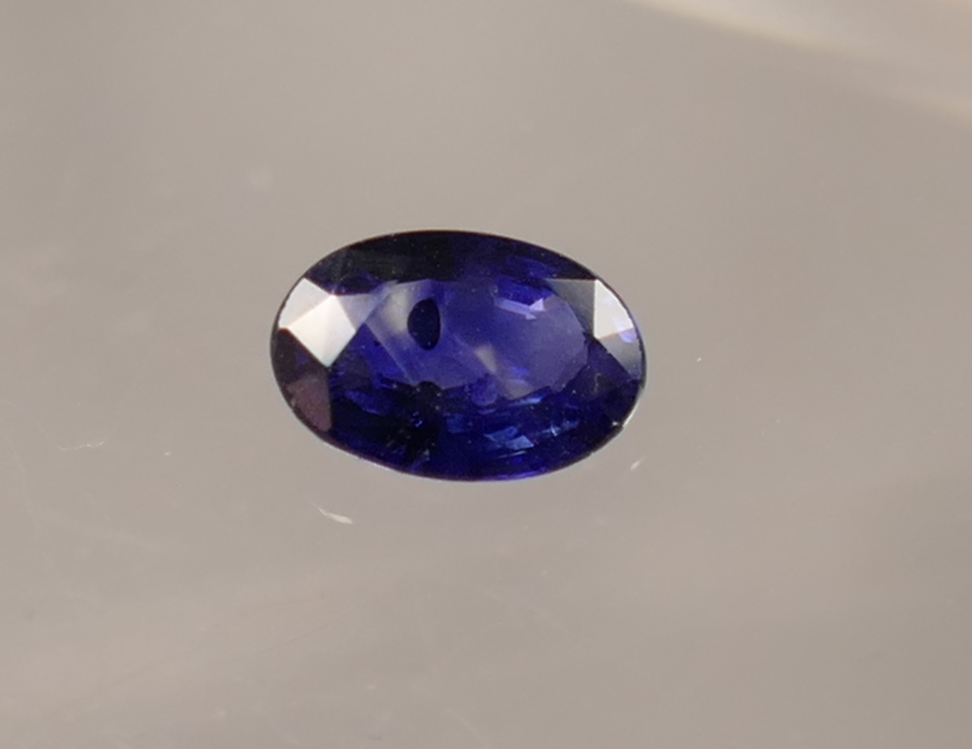 6x4mm Joli Saphir bleu roi naturel en facettée ovale Ceylan Sri Lanka 0.45ct (#PB276)