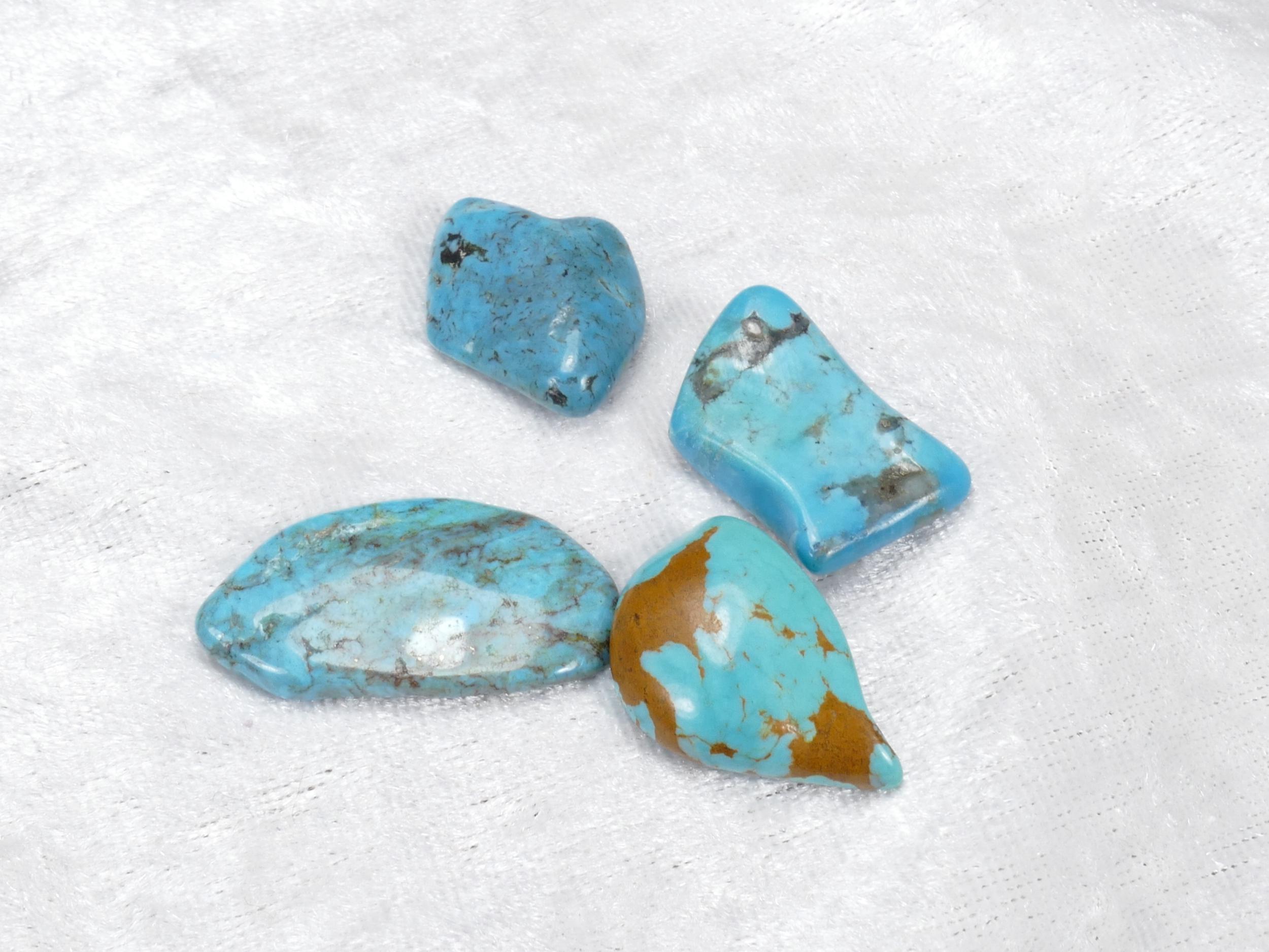 22-30mm 4 Turquoise naturelle en morceau roulé avec matrice 11.87g (#PM354)
