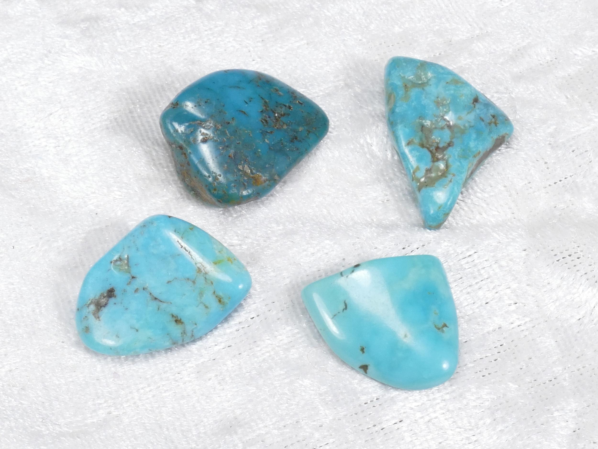 16-25mm 4 Turquoise naturelle en morceau roulé avec matrice 11.88g (#PM357)