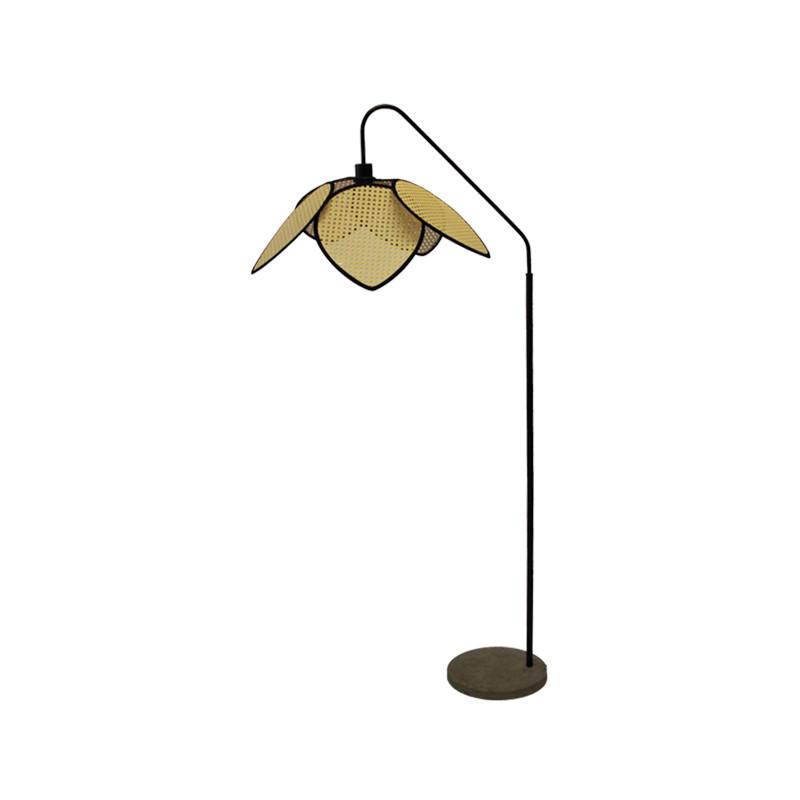 LAMPE SUR PIED EN CANNAGE