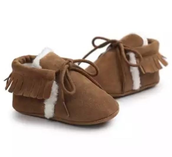 Chaussure bébé fourrée