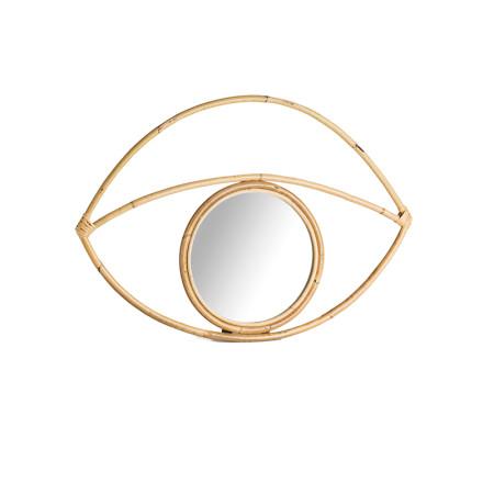 Miroir oeil rotin XL