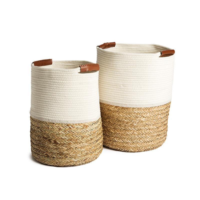 Panier corde et coton
