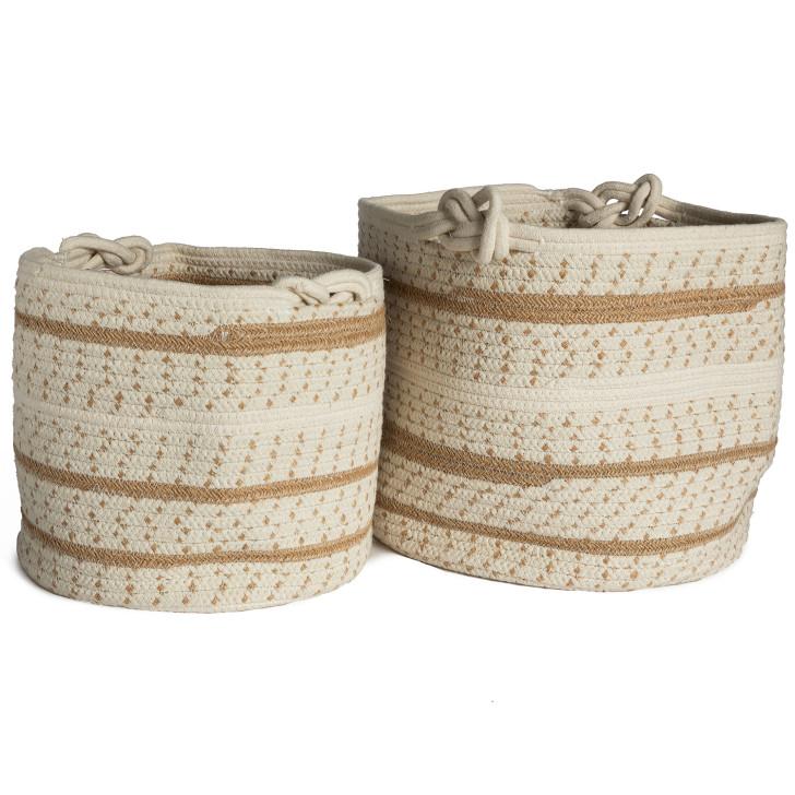 Set de 2 paniers coton