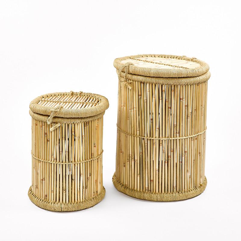 Set de 2 paniers Bambou / Corde