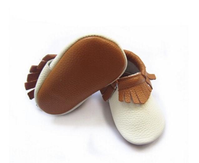 Chaussure bébé cuir bicolore