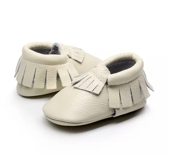 Chaussure bébé cuir beige