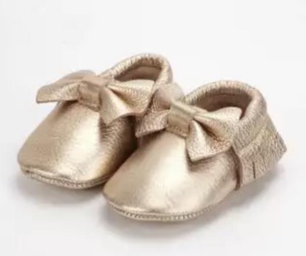 Chaussure bébé noeud