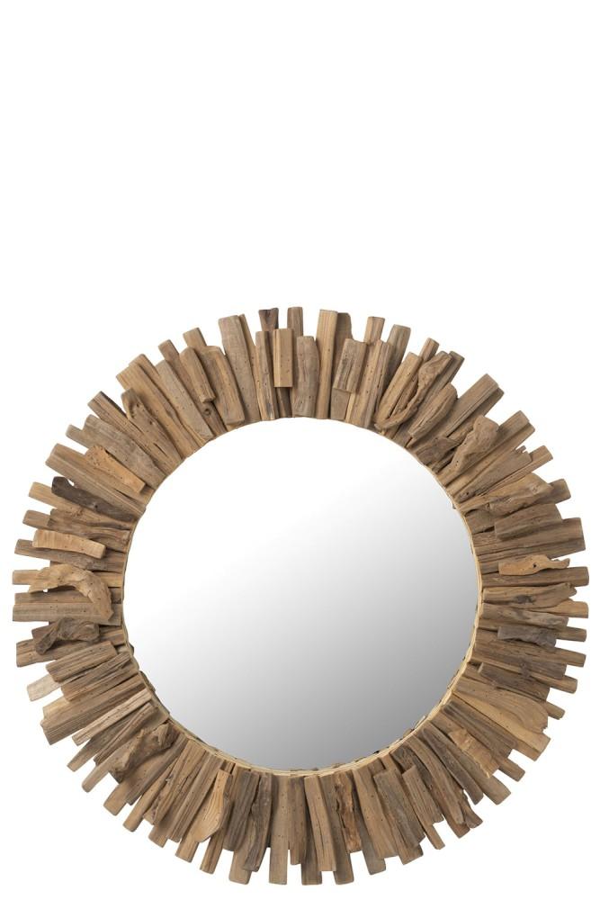 Miroir Rond Bois XL