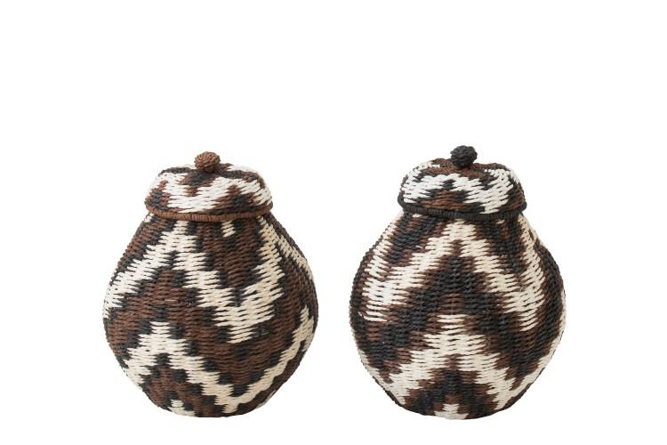 Assortiment De 2 pots/paniers naturel taille XL (53cm)