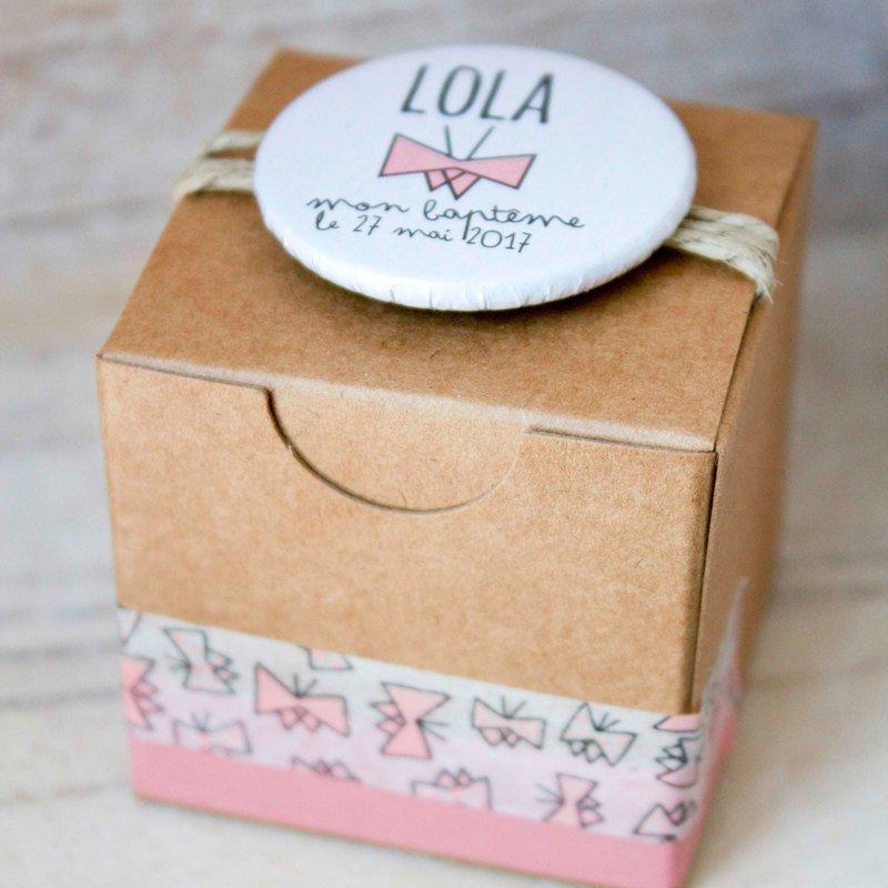 Boîte kraft Lola- Papillon
