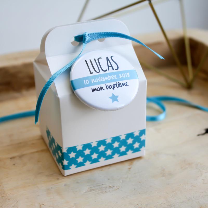 Boîte à dragées Lucas (Cadeau invité : baptême-communion-anniversaire-mariage...)