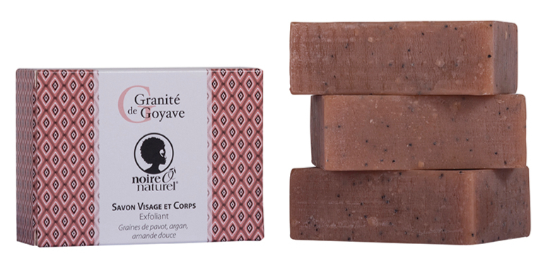 Organic Exfoliating Soap - Argan, sweet almond and poppy GRANITE DE GOYAVE