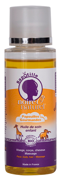 Organic Care Oil for children - Body, hair, massage - Papouilles Gourmandes
