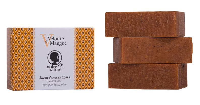 Organic Face and Body Soap - Creamy Mango - Coconut, Shea butter, Macadamia VELOUTE DE MANGUE