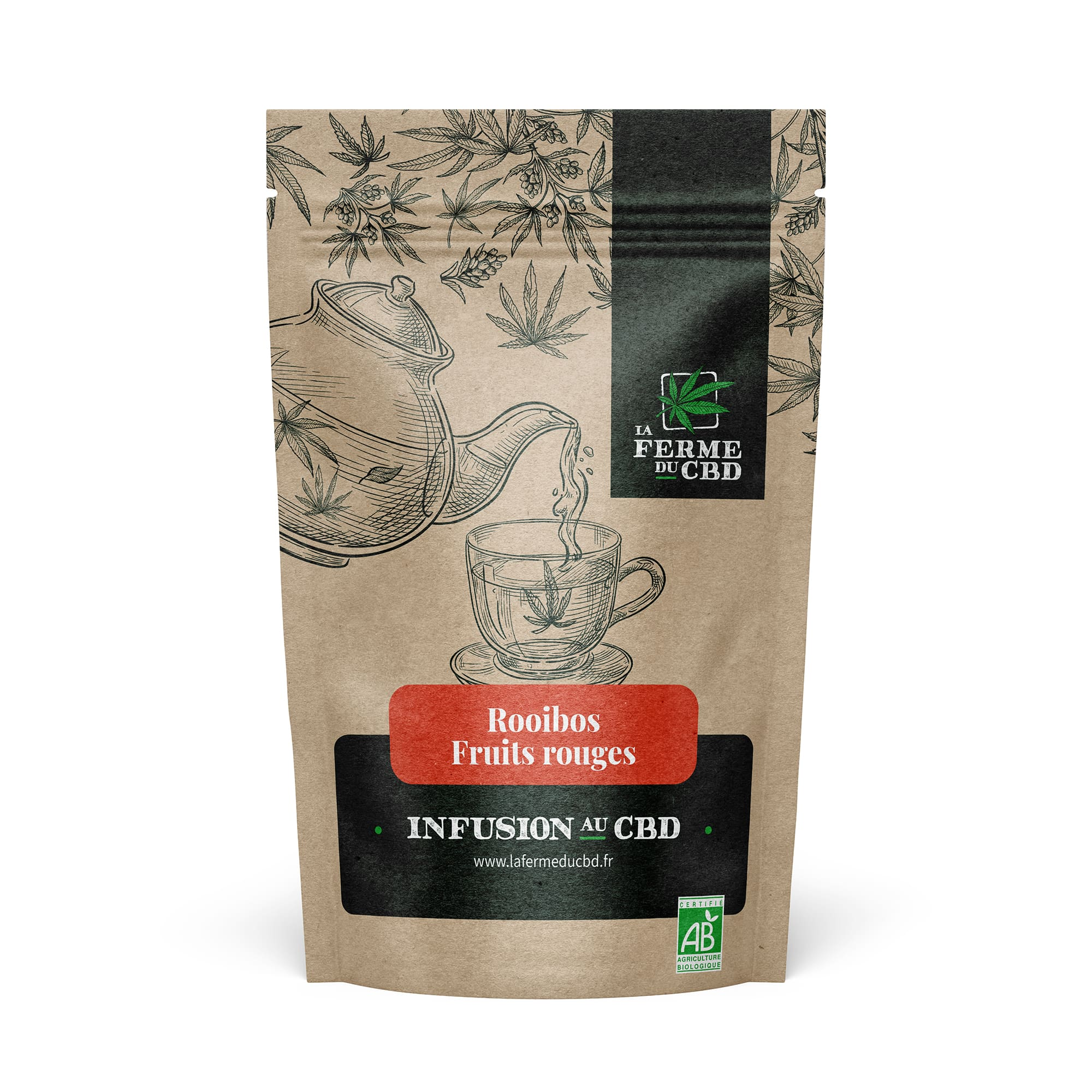 Infusion CBD Rooibos Fruits rouges
