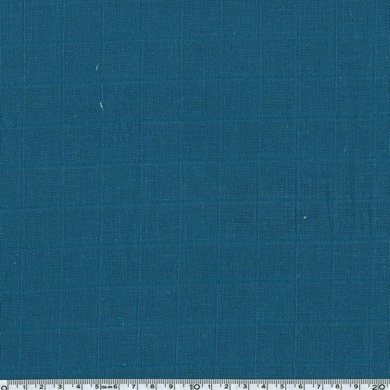 tissu lange coloris bleu p trole 20 x 150 cm gaze cr pon motif personnel. Black Bedroom Furniture Sets. Home Design Ideas