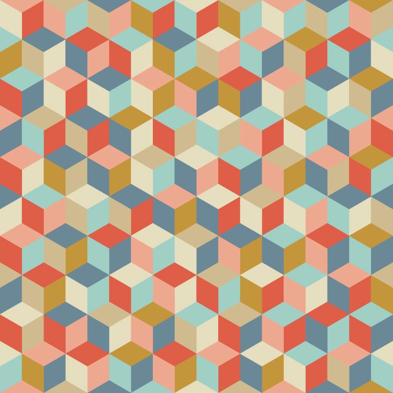 Tissu cubes coloris cocktail maill par aime comme marie - Tarif livraison cocktail scandinave ...