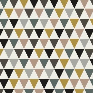 Tissu Petits Triangles Fond Blanc Coloris Fin De Si Cle Par Aime Comme Marie 20x140 Cm Tissus