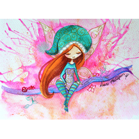 Coupon Aquarelle par Laure Phelipon 25 x 35 cm (popeline)