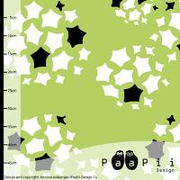 DERNIER COUPON Jersey Hoya fond vert, 1m10 x 160 cm