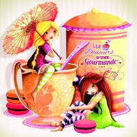 Coupon Gourmandise par Laure Phélipon env. 28 x 29 cm (popeline)