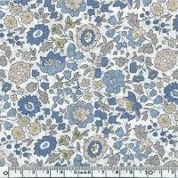 Liberty d'Anjo pastel bleu beige japonisant coloris E 20 x 137 cm