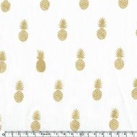 A nana's fabric, lin used blanc 20 x 140 cm