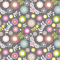 Tissu Woodland Friends Fleurs 20 x 110 cm