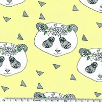 Jersey Flower Panda coloris jaune 20 x 160 cm