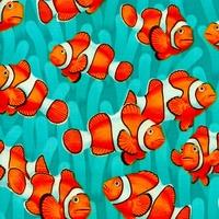 Tissu poisson clown 20 x 110 cm