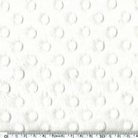 Jersey velours 'minkee' blanc 20x140 cm