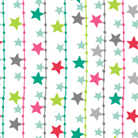 Tissu Christmas Dreams Star Garlands 20 x 110 cm