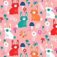 Tissu Secret Garden lapins 20 x 110 cm
