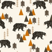 DERNIER COUPON Sweat Camping Bear ours rouille 80 x 160 cm