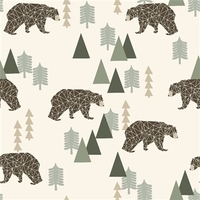 Sweat Camping Bear ours vert 20 x 160 cm