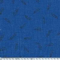 Léger comme une plume, voile de polycoton bleu dur, 20 x 140 cm