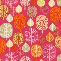 DERNIER COUPON Tissu Acorn forest Feuilles coloris Sweet 30 x 110 cm