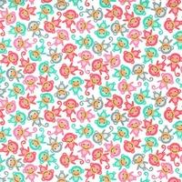 Tissu Urban zoology mini singes coloris White 20 x 110 cm