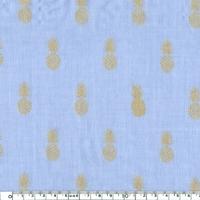A nana's fabric, voile de polycoton myosotis 20 x 140 cm