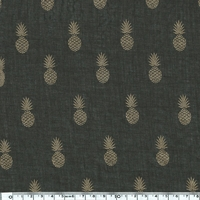 A nana's fabric GOLD, voile de polycoton chocolat, 20 x 140 cm
