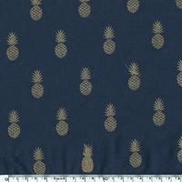 A nana's fabric, voile de polycoton prune, 20 x 140 cm